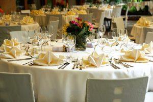 wedding buffet table